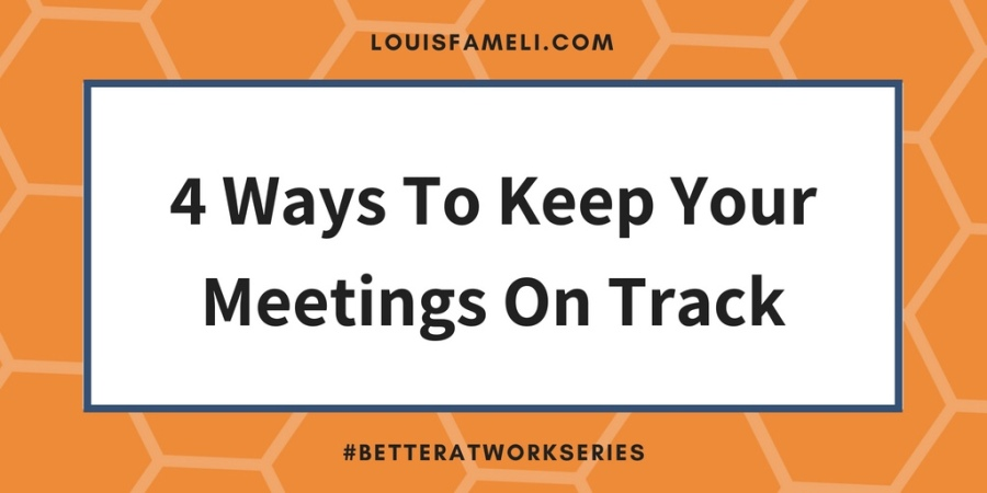 Four ways to keep your meetings on track image